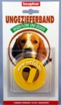 Ошейник Беафар д/собак  от блох и клещей желтый 65см