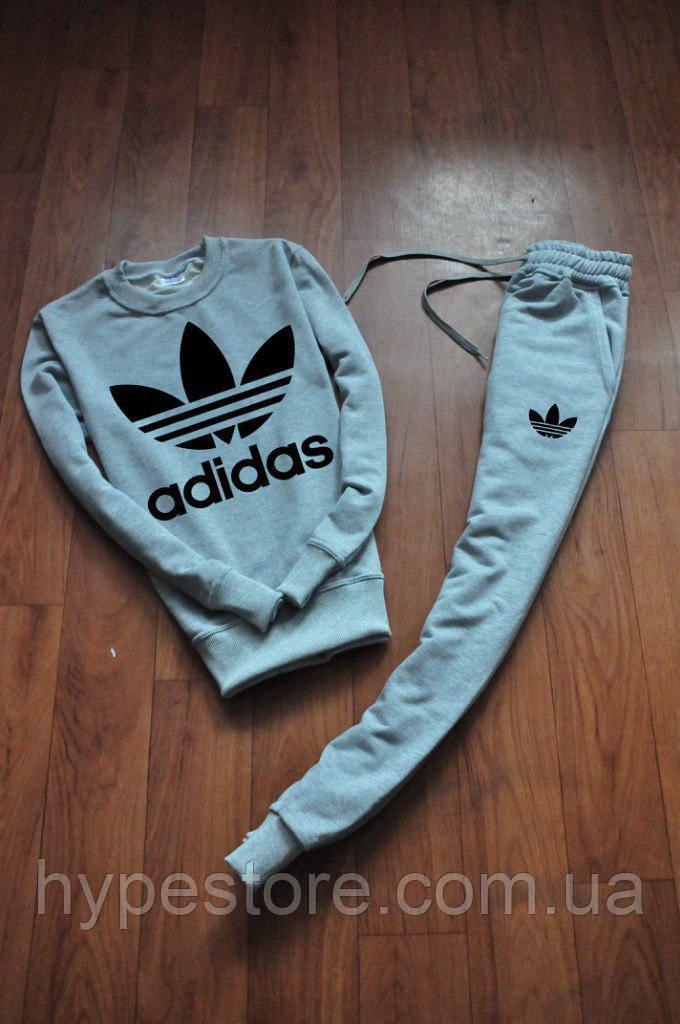 17bfe121cab8 Спортивный костюм Adidas, адидас (серый + черный большой лого) , Реплика  L(50), Реплика