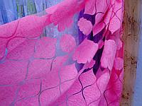 Розовая яркая тюль-штора на органзе