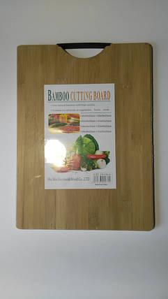 Доска бамбуковая супер с карболитовой ручкой 24*34, фото 2