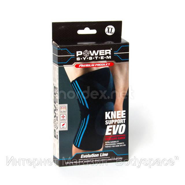 Power System, Наколенник Knee Support EVO PS-6021, Черный/Синий