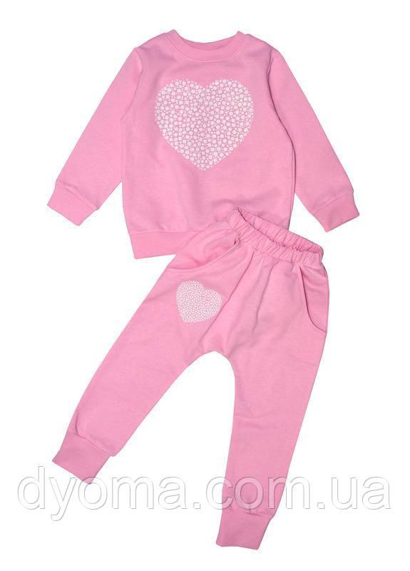 """Детский теплый костюм """"Sweet heart"""" для девочек"""