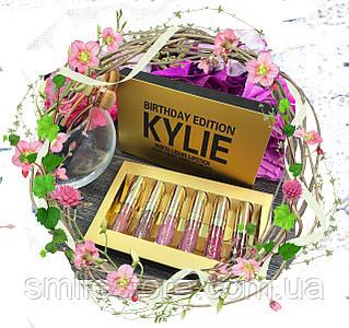 Kylie Birthday Edition Gold - Набор жидких матовых помад.