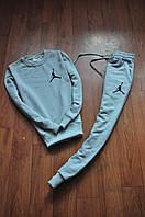 Спортивный костюм Jordan (серый + маленький логотип), Реплика