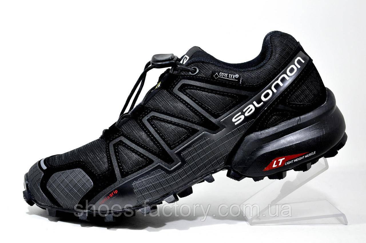 4b6b59d9a8fa Мужские кроссовки в стиле Salomon Speedcross 4 GTX, Black - Интернет  магазин спортивной обуви Shoes