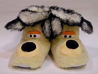 Сапожки-тапочки комнатные Собака из овчины с кроликом, фото 1