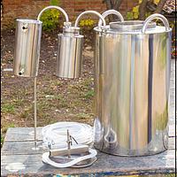 Дистиллятор, самогонный аппарат 30 литров с широкой горловиной + сухопарник (нержавейка)