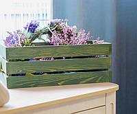 Деревянный цветочный ящик