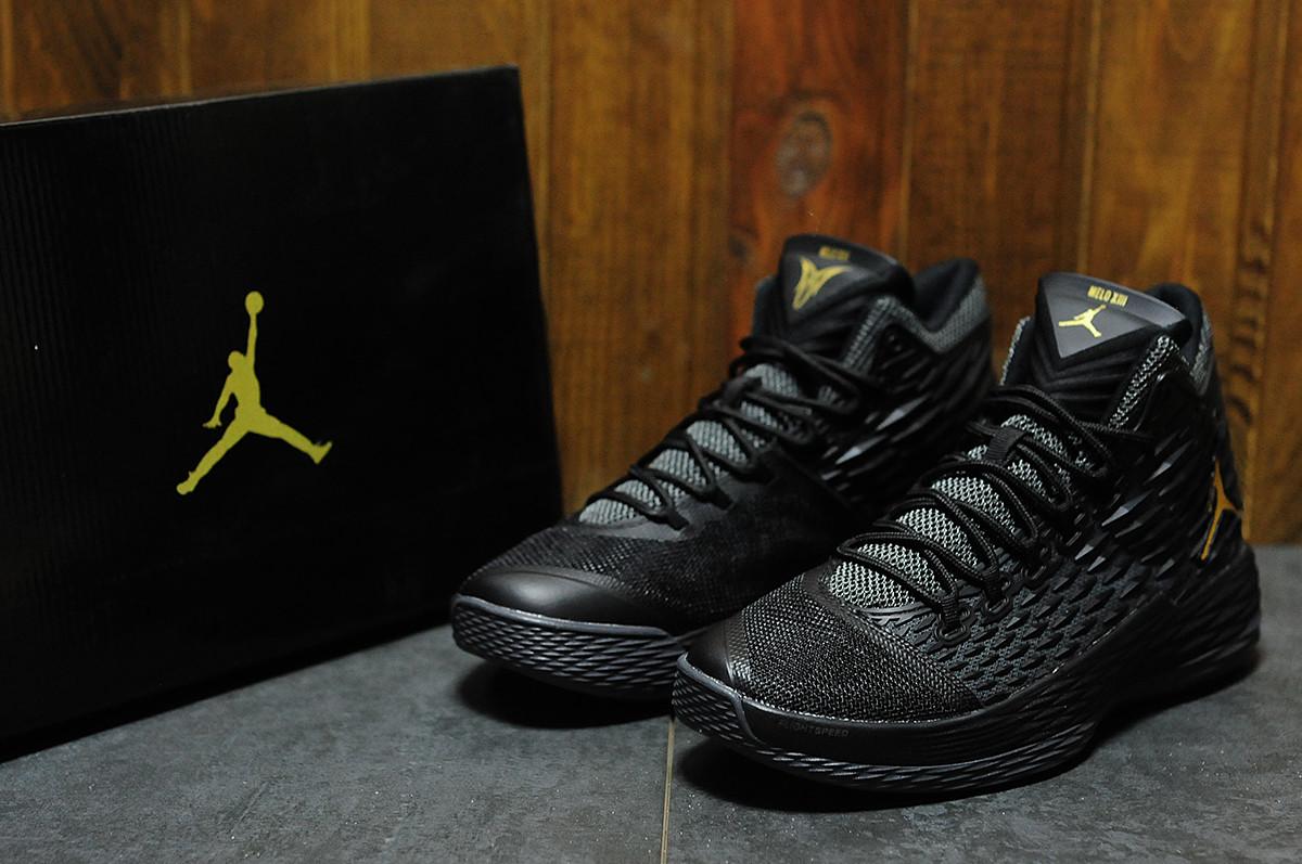 Кроссовки мужские баскетбольные Nike Air Jordan Melo M13 black (реплика) -