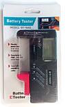 Тестер батареек BT-168D (Цифровой, подходит для всех элементов 1,5В и 9В), фото 5