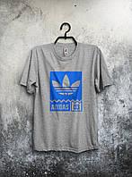 Хайповая футболка Adidas 03 (серый), Реплика
