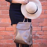Женский рюкзак городской из кожи