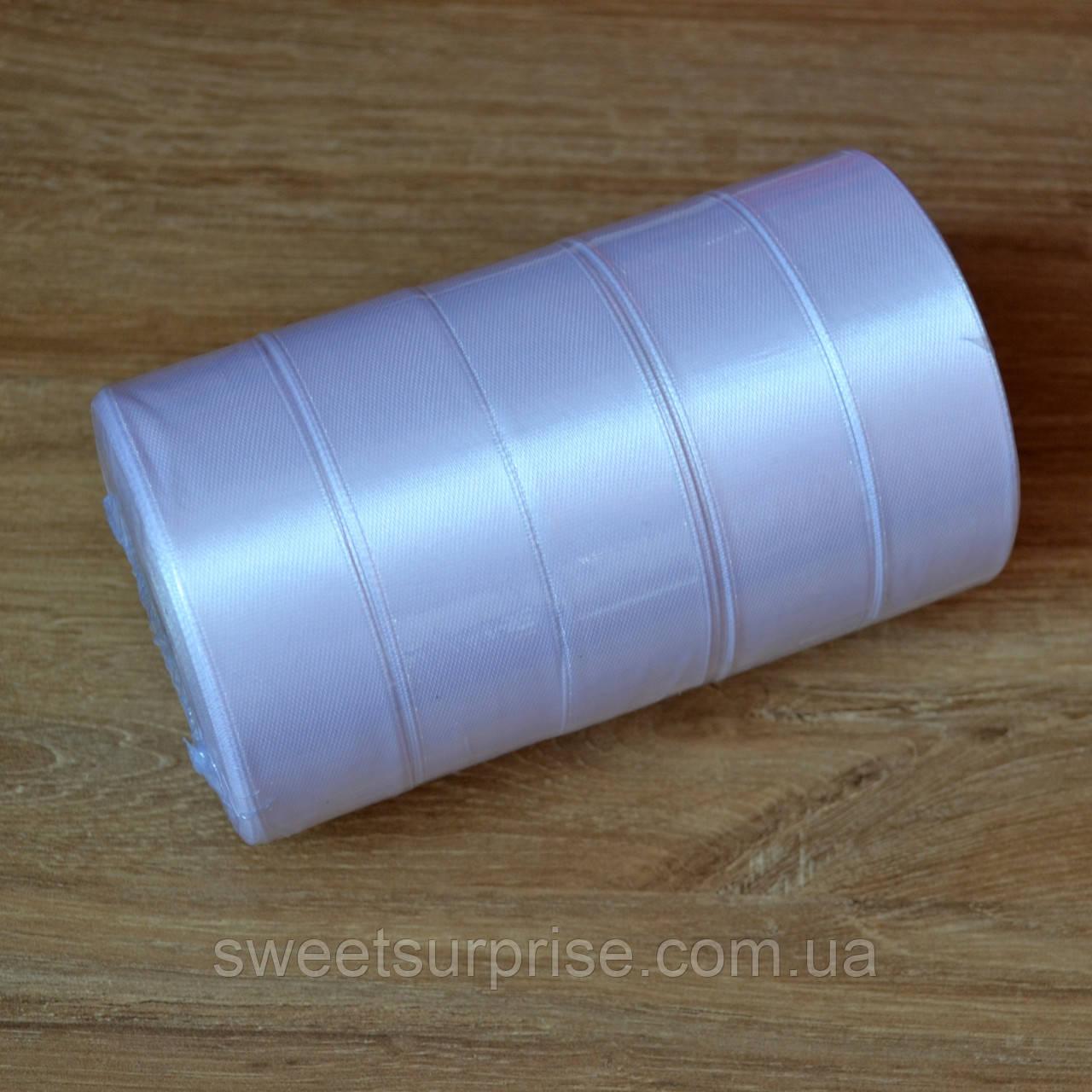 Лента атласная 25 мм (белый)