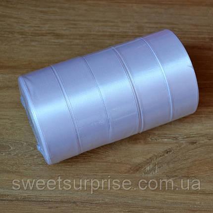 Лента атласная 25 мм (белый), фото 2