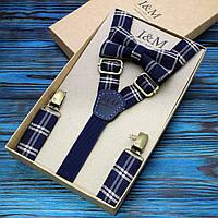Набор I&M Craft галстук-бабочка и подтяжки для брюк (030229)