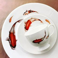 Столовый сервиз Sakura, 27 единиц, Рыбки, на 6 персон