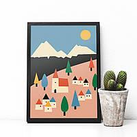 Постер City Colors Village