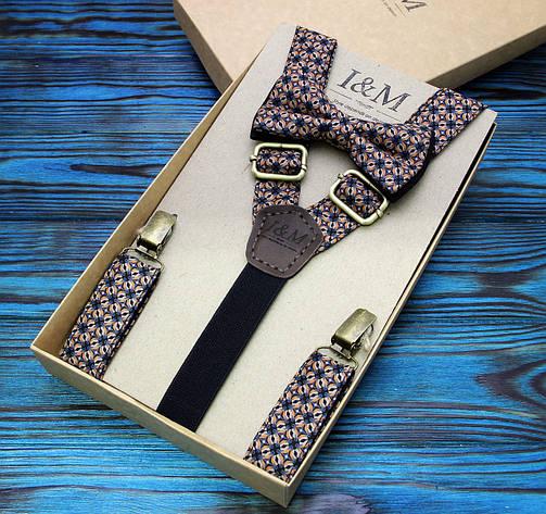 Набор I&M Craft галстук-бабочка и подтяжки для брюк (030231), фото 2