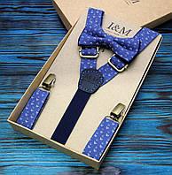 Набор I&M Craft галстук-бабочка и подтяжки для брюк (030232)