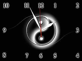 Часы настенные стеклянные Т-Ок 007 SG-3004001
