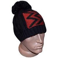 Вязаная мужская шапка с помпоном (утепленный вариант) - тренд зимы