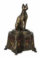 Коллекционная музыкальная статуэтка Veronese Египетская кошка WU70594A4