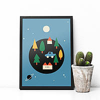 Постер City Colors Globe