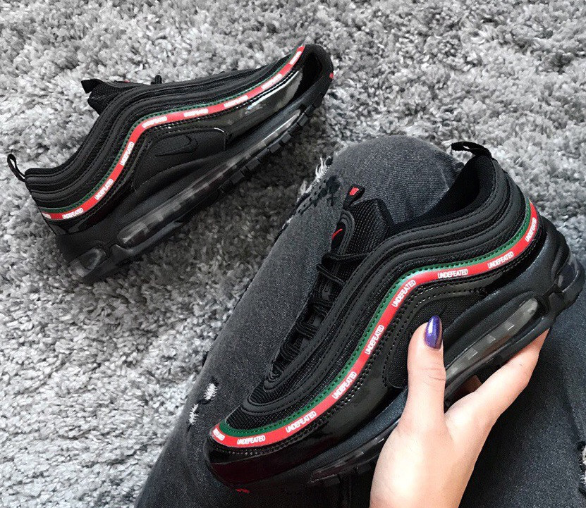 кроссовки Nike Air Max 97 Undefeated X Black рефлективные живое