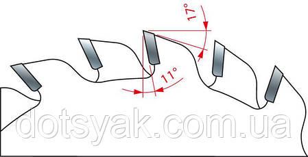 Пила Freud LI16M АВ3- подрезная двухкорпусная дисковая 120х2,8-3,6х22х12+12, фото 2