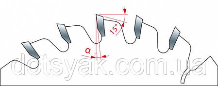 Пила Freud LI25M28 EВ3 - подрезная цельная 120х2,8-4,0х2,2х22х24, фото 2