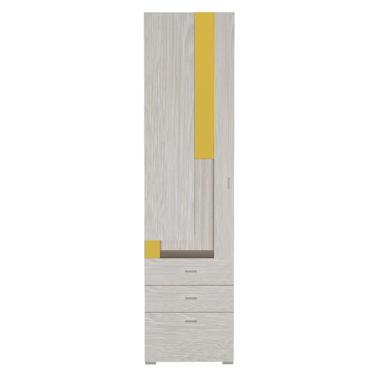 Шафа в дитячу кімнату з ДСП/МДФ AXEL Е Blonski 1 дверна атланта+жовтий