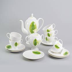 """Чайный сервиз """"Листья"""" 14ед. на 6 персон"""