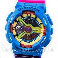 Яркие спортивные часы Casio G-Shock ga-110 Azure-Rose