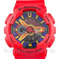Яркие спортивные часы Casio G-Shock ga-110 Red