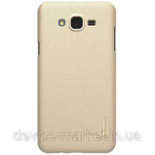 Чехол Nillkin Super Frosted Shield Samsung Galaxy J7 Neo J701F Gold