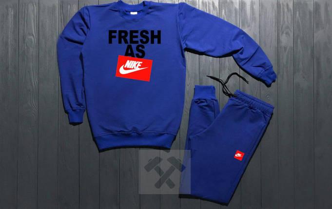 Костюм спортивный Nike синий топ реплика, фото 2