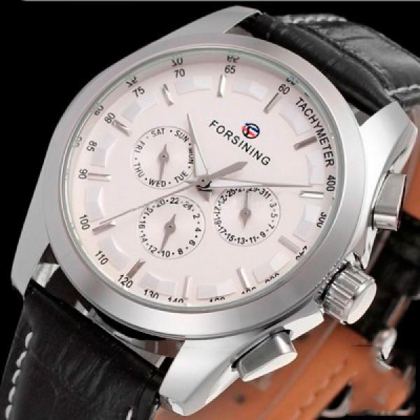 Мужские часы Forsining Walker Silver
