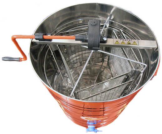 Медогонка  поворотная , нержавеющая сталь , на 4 рамки, фото 2