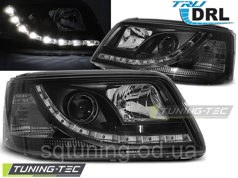 Фари VW T5 04.03-08.09 TRU DRL BLACK