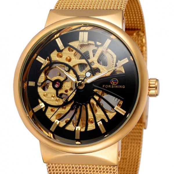 Мужские часы Forsining Leader Gold