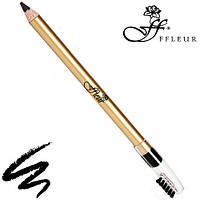 FFleur Карандаш для бровей Eyebrow Pencil 7616 (Чёрный)