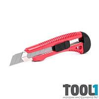 Нож прорезной усиленный с отломным лезвием 18 мм INTERTOOL HT-0501