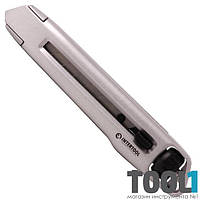 Нож металлический усиленный с винтовой фиксацией лезвия INTERTOOL HT-0512