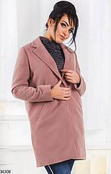 Пальто весеннее кашемировое  XL + (3 цвета)