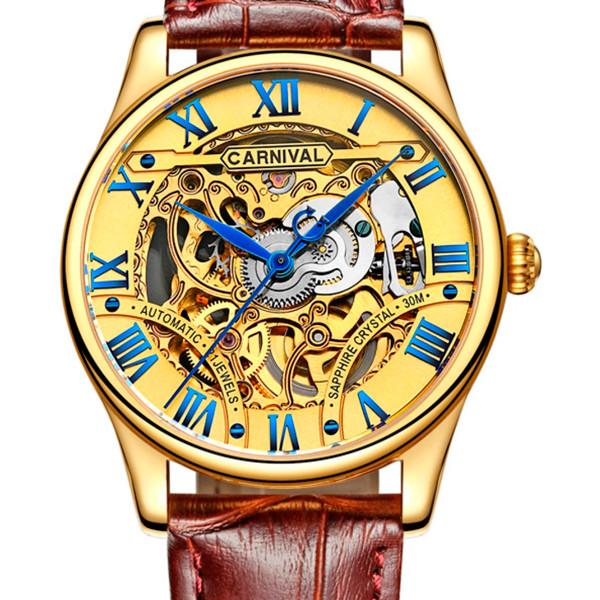 Мужские часы Carnival Automatic 21Jewels VIP Brown