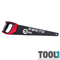 Ножовка по дереву 500 мм с тефлоновым покрытием, каленый зуб, 3-ая заточка INTERTOOL HT-3109