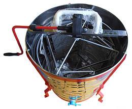 Медогонка поворотна на 4 рамки , нержавіюча сталь , на великих ніжках, фото 2
