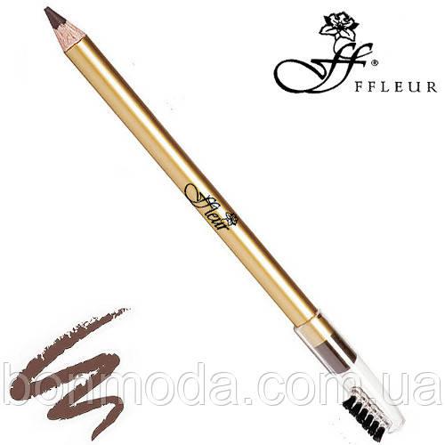FFleur Карандаш для бровей Eyebrow Pencil 7616 (Коричневый)