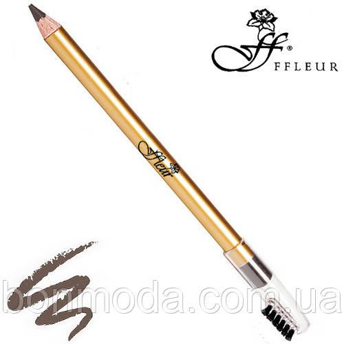 FFleur Карандаш для бровей Eyebrow Pencil 7616 (Серый)