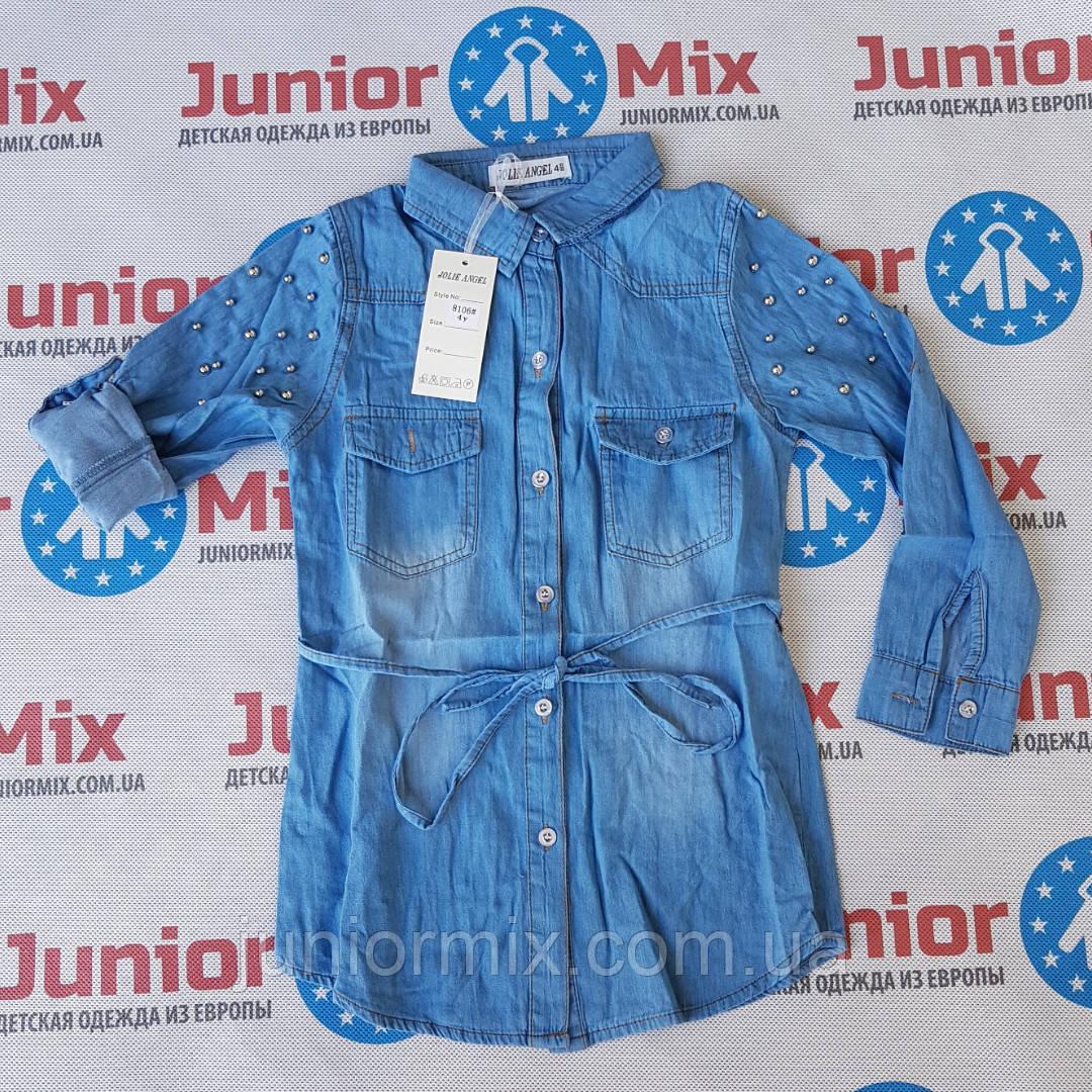 Подростковая джинсовая рубашка для девочек оптом JOLIE ANGEL